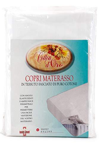 Niucci Coprimaterasso Cotton d'oro A Cappuccio Bianco Matrimoniale