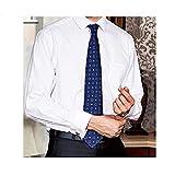 Guoz Camisa de Hombres Corte Cuello Camisa de Planchado sin Arrugas Manga Larga clásico Slim Elástica Casual Formal Negocio para Hombre,XXXL