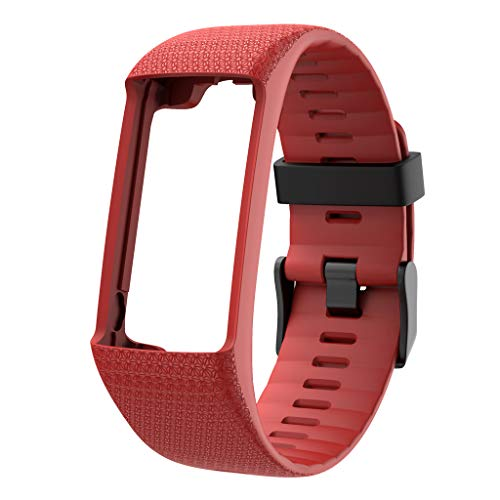 CUCUDAI Qianqian56 Silicone Watch Band Black Buckle Wrist Strap for Polar A360 A370 Series Bracelet-Red