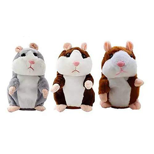 YUDIZWS Hamster Peluche Habla Hablando Hamster Toy Hamster Hablar Hablar Hamster Hablando Hablar Que Se Repite para El Regalo De Los Niños Infantiles,Gris,18cm