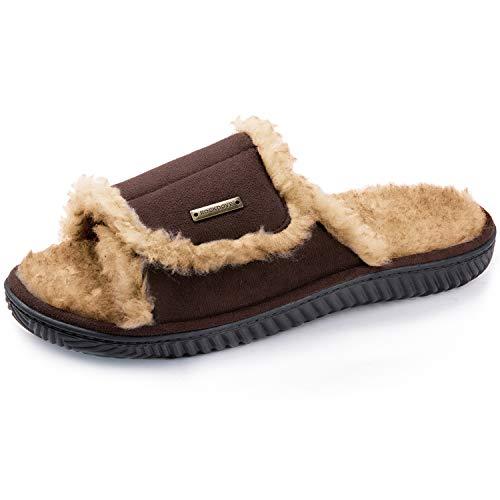RockDove Men's Outlaw Sandal Slipper with Memory Foam, Size 13-14 US Men, Hickory