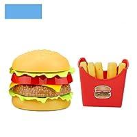 子供たちはシミュレーションの食べ物のおもちゃのふりをしますベビープレイハウスハンバーガーホットドッグフライドポテトキッチンセットのおもちゃファーストフード教育のおもちゃ (E)