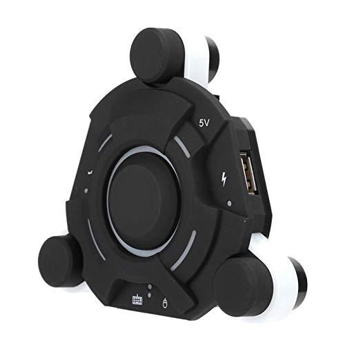 Lazmin112 Conversor De Teclado Y Ratón, Configuración De Botones Personalizados Plug and Play K2 Black ABS Adaptador Bluetooth Mejor Control Equipo De Juego Accesorio para Android/iOS