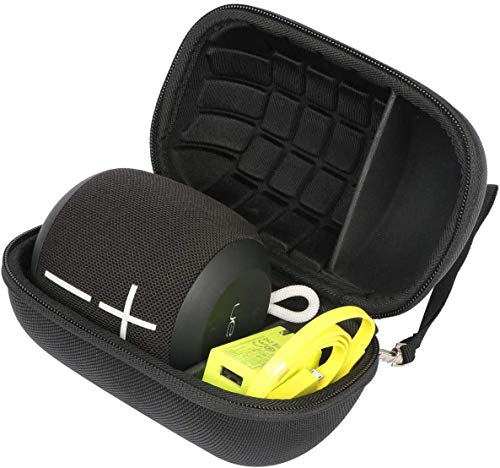 Khanka Duro Viaje Estuche Bolso Funda para Ultimate Ears WONDERBOOM1 / Wonderboom 2 Altavoz Bluetooth Impermeable (Nero)