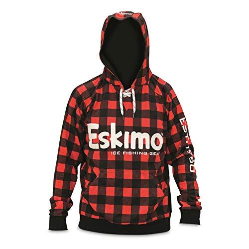 Eskimo Herren Plaid Hoodie Kapuzenpullover, rot/schwarz, XX-Large