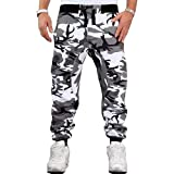 Pantalones casuales para hombre, personalidad de moda, estampado de camuflaje, ajustado, con cordón, cintura elástica, pantalones casuales, para correr, Fitness, deportes, pantalones casuales XL