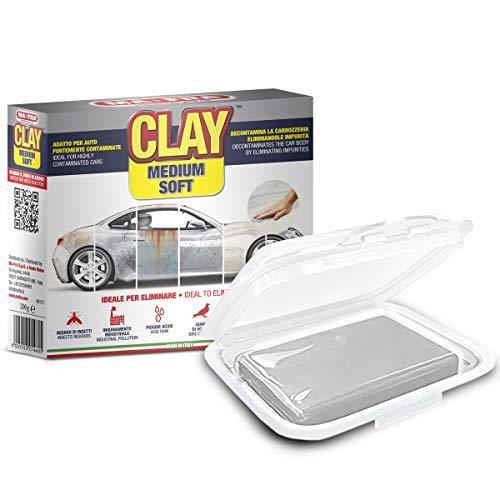 Mafra Clay Bar Special pour Voitures Légères, Couleur claire, Dureté Moyenne à Dure