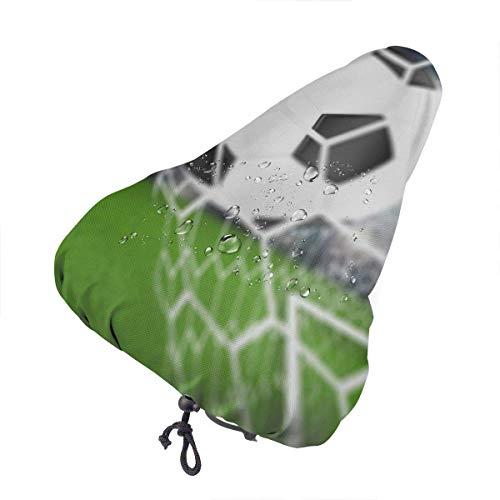 Enoqunt Funda Impermeable para Asiento de Bicicleta Balón de fútbol en Red de portería Impresión para Bicicleta Sol Protección contra la Lluvia y el Polvo UV