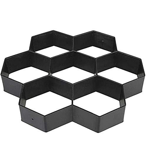 ZoSiP Jardinería Pavimento Encofrado Celosía de Hormigón Fantasía Hexagonal Moho de Color hormigón de Cemento de moldes de Suelo Baldosas de Suelo Pavimentación en Carretera de Piedra