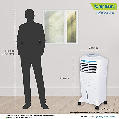 Symphony Hicool i 31 Litre Air Cooler with Remote Control (White)
