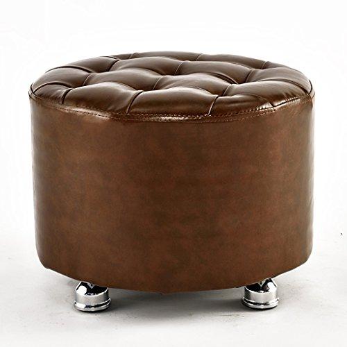 PLL pure kleur PU kleine stoel huishoudschoenen kruk massief hout dressing ronde kruk