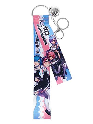 CoolChange Re:Zero Schlüsselanhänger I Rem & Ram Schlüsselband mit Schlüsselring I Pink