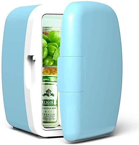 Fee-ZC Mini-koelkast, stille desktop-minibar, 6 liter, mini-autokoelkast, compacte koeler en warmere auto Home Dual Use Cosmetics gekoelde student
