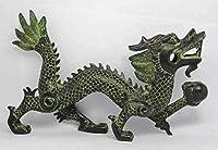 彫刻鑑賞バストレトロブロンズレアチャイニーズハンドワークドラゴンオールドブロンズ像