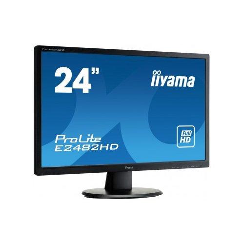 "iiyama E2482HD-B1 Ecran PC LED 24"" (60,96 cm) 1920x1080 5 ms VGA/DVI - Noir"