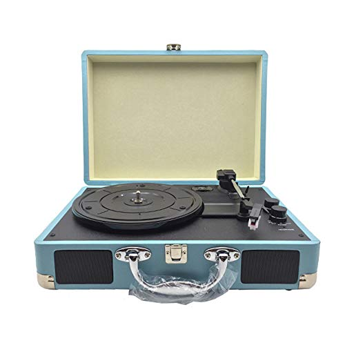 FMOGE Portable Bluetooth Speaker Turntable Record Player with Speakers Three Speeds Adjustable Suitable for Cafe Restaurant