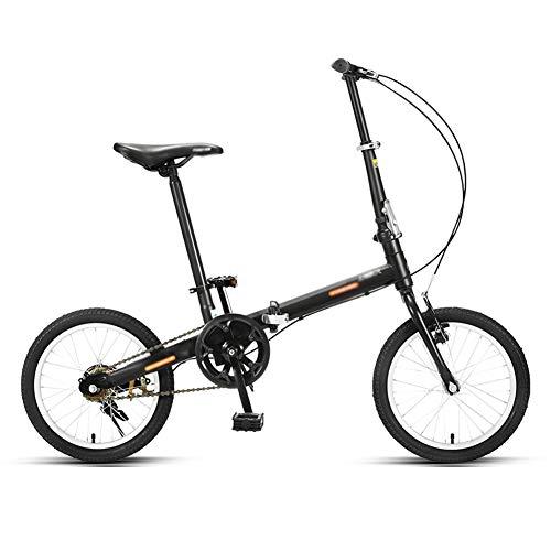 QETU Faltrad, 16-Zoll-Räder, Ultraleichtes Tragbares Kleines Studentenfahrrad, Für Studentenauto Für Erwachsene