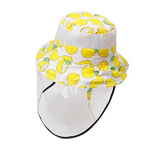 Happy Cherry Baby Augenschutz Staubschutz Naseschutz Gesichtsschutz Multifunktionaler Visier Sonnenhut Gelb 0-6 Monate