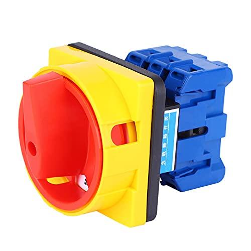 Interruptor de cambio, interruptor de selección, AC600V 25A Interruptor de cambio de tipo de acción bloqueada de 2 posiciones de plástico