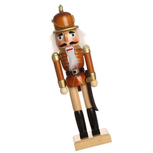 Fenteer Klassischer Holz Nussknacker Soldat Figuren Modell Puppe Spielzeug Wohnkultur Dekoration - b