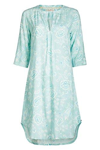 PiP Studio Damen 3/4 Arm Drew Indian Rose Nachtkleid Nachthemd floraler All - Over Druck, Farbe:blau, Grösse:M - 38