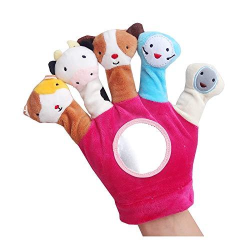 Fanng Juguete de Peluche de marioneta de Mano para bebé Traje de marioneta de Dedo de Tela Juguete de marioneta de Mano Animal recién Nacido