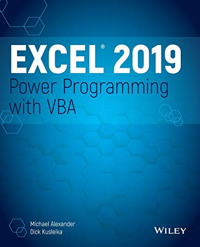 Excel 2019 Power Programming with VBA
