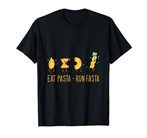 Italien Nudelgerichte Spaghetti Nudel Eat & Run Pasta T-Shirt
