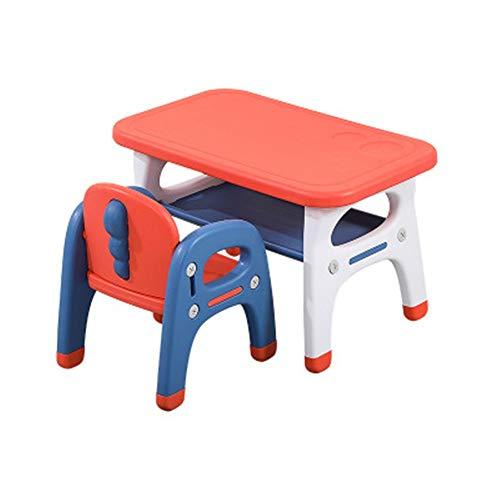 Escritorios de los niños Vector Y Silla Combinación de los niños una mesa y una silla de bebé mesa de plástico y silla cubierta Kinder turística de Casa de Estudio Para junior muchachos de las niñas