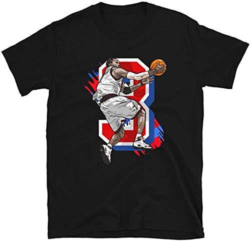 N/N Allen Iverson Philadelphia Sixers - Camiseta de manga corta (talla M),...