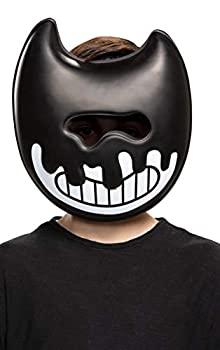 Bendy and The Ink Machine Costume Mask Ink Bendy Costume Accessory Game Inspired Kids Size Face-Mask Black/White