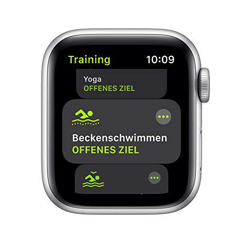 AppleWatch SE (GPS, 40mm) Aluminiumgehäuse Silber, Sportarmband Weiß