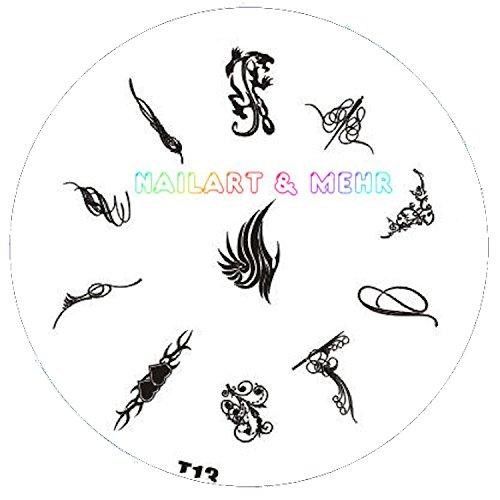 Pochoir de stamping # T 13 Tribals, tatouages, etc.