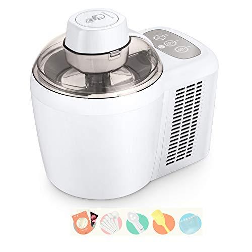 HQL Heladera con compresor, máquina de Helados autorefrigerante de congelación, Yogur Helado, Sorbete, Helado, 1,5 pintas, Blanco