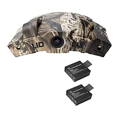 LiDCAM LC-WF Hands Free Digital Camouflage Action Camera Plus Extra Battery, 1080P HD Wi-Fi with Full Audio from LiDCAM