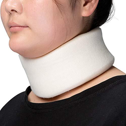 Medibot Soft Foam Cervical Collar Neck Support Brace for Sleeping Neck Pain (White, M)