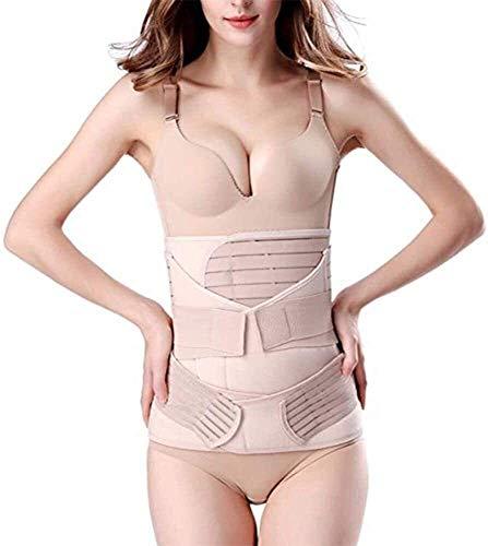 3 en 1 Postpartum Belly Support Recovery Wrap - Después de la banda de la banda de nacimiento Soporte posparto Cinta de recuperación de la cinta de la cintura para las mujeres Pelvis Pelvis Cinturón p ✅