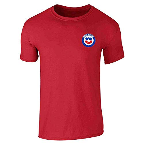 Chile Futbol Soccer Retro National Team Costume Red L Graphic Tee T-Shirt for Men