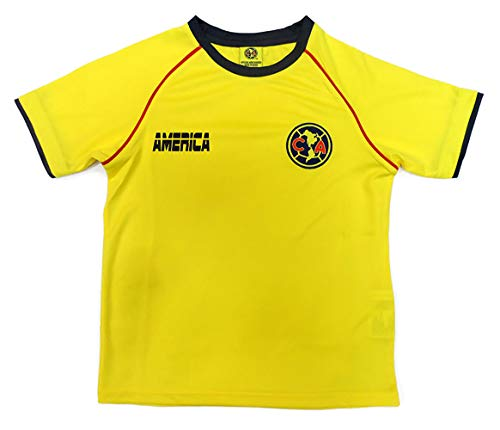 Club America Kids Soccer Jersey Official Licensed R.Sambueza 14 (Medium) Yellow