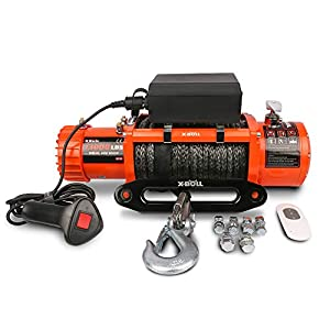 X-BULL 12V Synthetic Rope Winch 13000 lb Load Capacity