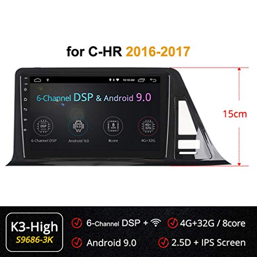 Why Should You Buy XBRMMM Android 8.1/9.0 Car DVD for Toyota C-HR CHR C HR 2016-2017 Car Radio Multi...