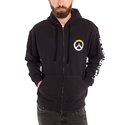 Overwatch Logo Kapuzen Jacke schwarz - XL