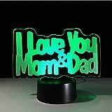 Ganjue Il Miglior Regalo Per I Genitori Amore Mamma Amore Papà Regali Di Personalità Luce Led Lampada Decorativa 3D Regalo Per La Festa Della Mamma