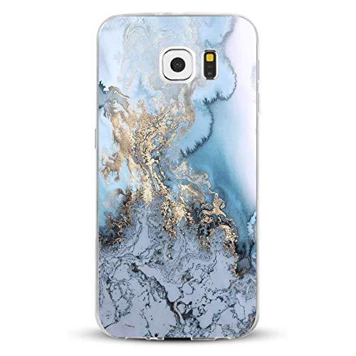 Samsung Galaxy S6 Hülle,AIsoar Samsung S6 Handyhülle [Ultra Dünn] Crystal Weiche Soft Schutzhülle Transparent stoßfest Case Slim Klar TPU Silikon Marmor serie Kratzfest Cover für Samsung S6 (Marmor 4)