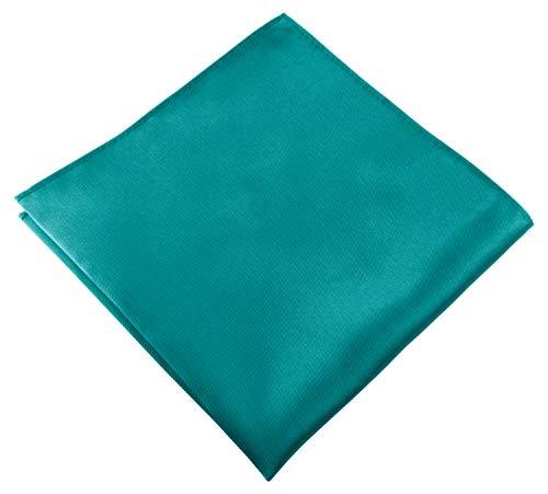 Helido Einstecktuch für Herren, 30 x 30 cm, Stoff-Taschentuch passend zu Anzug/Sakko – als Ergänzung zum Tuch eignen sich Fliege oder Krawatte (Türkis)