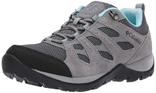 Columbia Women's Redmond V2 Hiking Shoe, Graphite, Blue Oasis, 8.5 Regular US