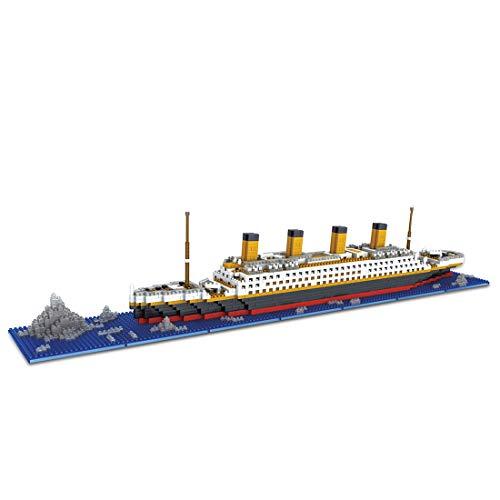 BGOOD Juego de construcción Titanic, 1860 bloques de construcción para velas, arquitectura 3D Nano Micro Blocks, juguete de construcción para niños y adultos, no compatible con Lego