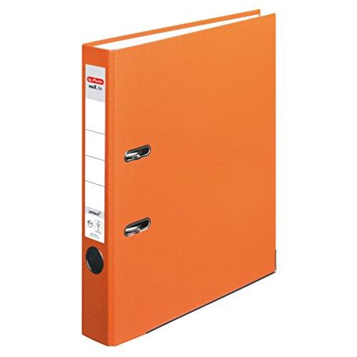 Herlitz 10557015 Ordner maX.file protect (A4, 5 cm, mit Einsteckrückenschild) orange