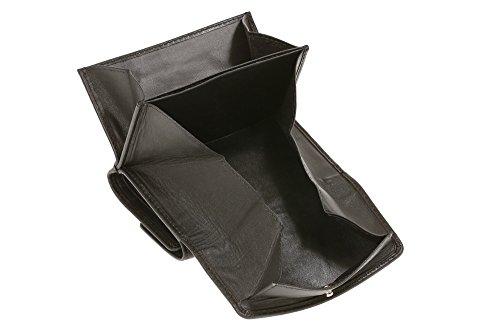 LEAS Opabörse mit großer Kleingeldschütte Echt-Leder, schwarz Special Edition