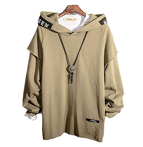 XIAOYAO Herren Kapuzenpullover Long Sleeve Sweatjacke Pullover Hoodie (Grün, XXXXL(Höhe:190-195cm Gewicht:83-90kg))